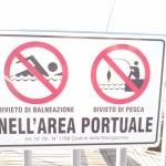 Baden verboten, Angeln verboten | im Hafengebiet