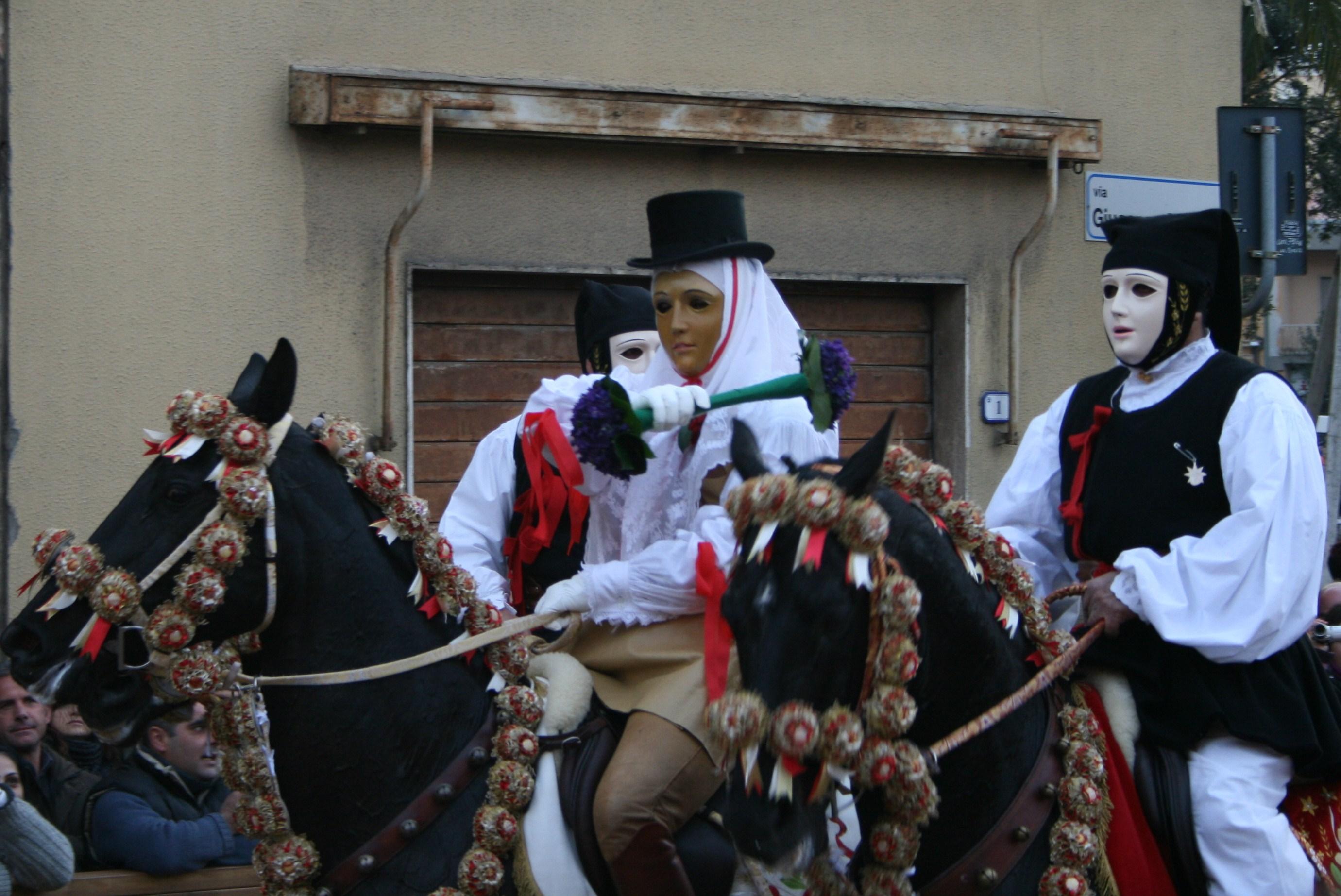 Der erste Reiter der Sartiglia: Su Componidori