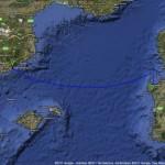 von Alghero nach Barcelona (Quelle: GoogleMaps)