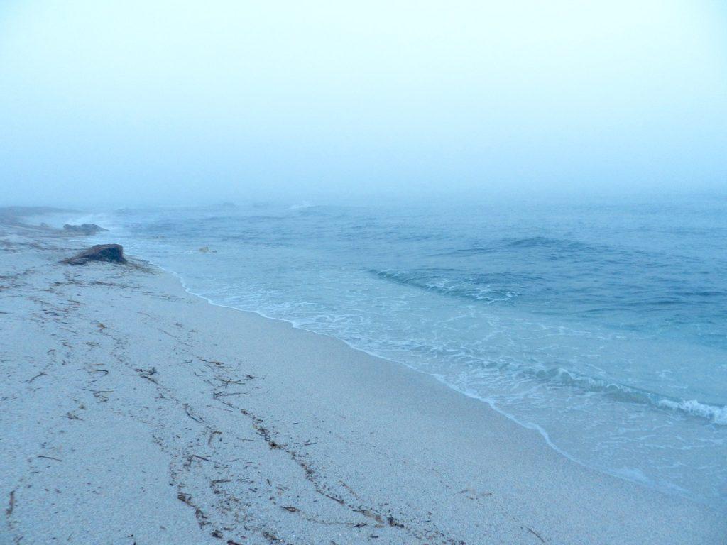 Mari Ermi an einem Nebelmorgen