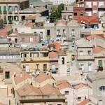 Blick auf die Häuser von Stampace