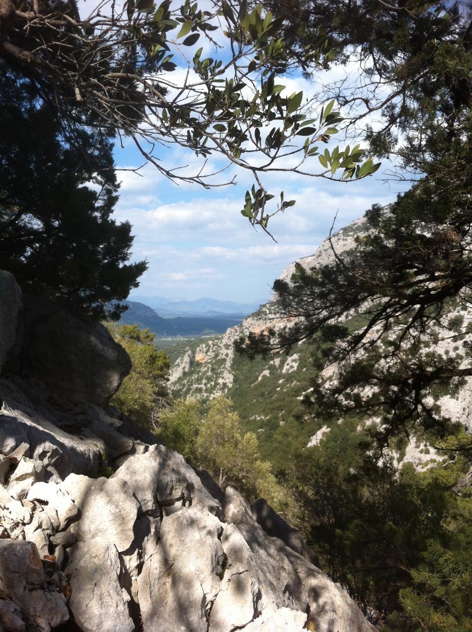 Blick vom »hinteren Ende« zurück ins Valle di Lanaitto