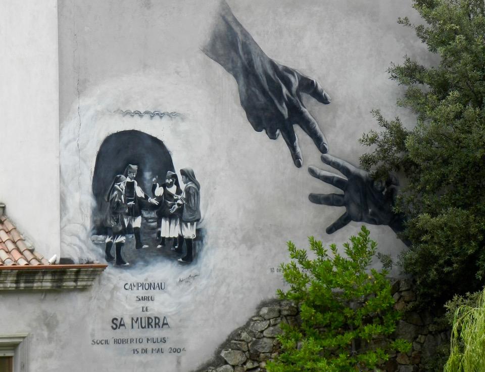 Sa Murra - murales an einer Hauswand in Urzulei