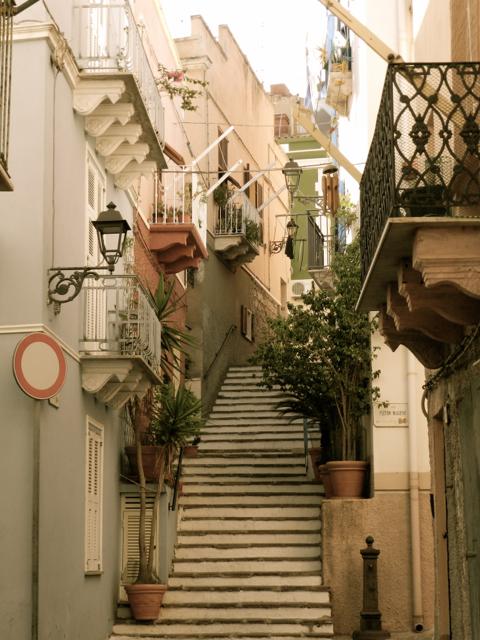 Treppe im historischen Zentrum
