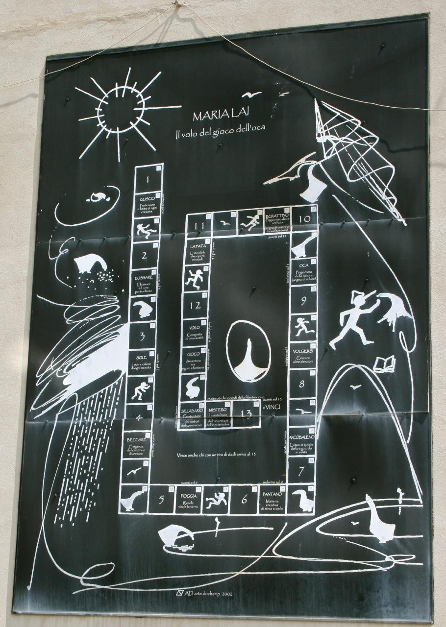 Il Volo del gioco dell'oca, 2004 Maria Lai, Osini