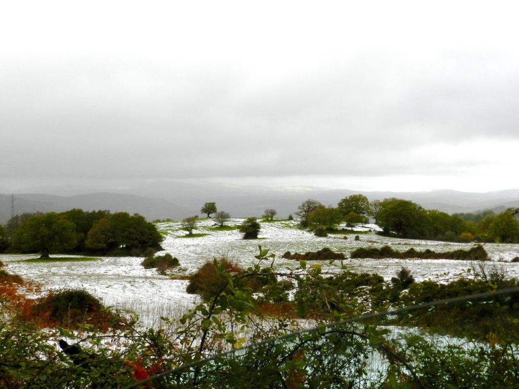 Gezuckerte Landschaft am Monte Spanu