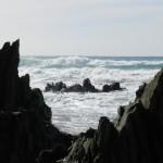 Wellen und Felsen bei Masua