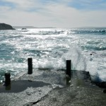 Masua - Steg am Strand