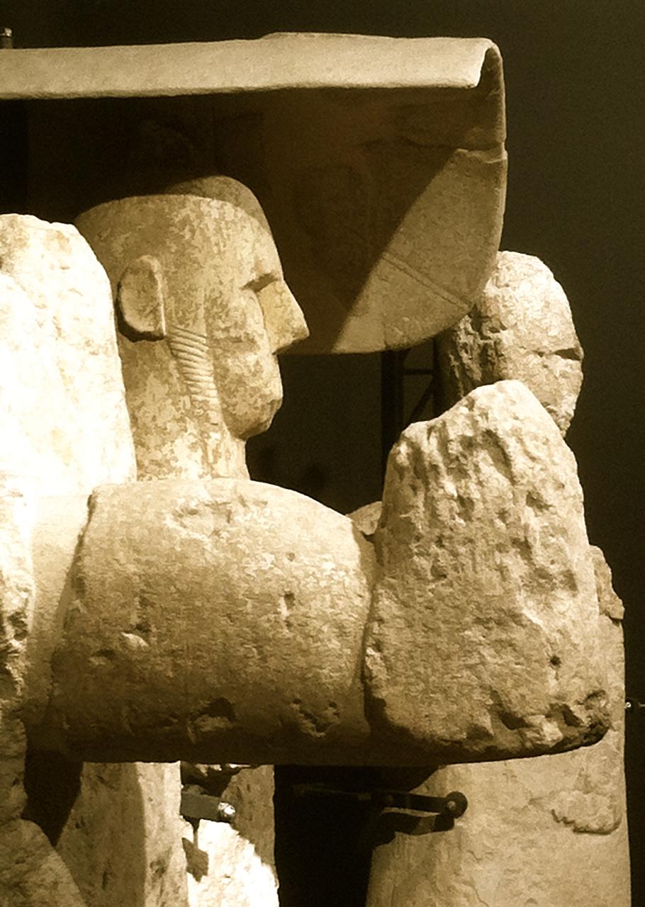 Drei Giganten im Museo Civico di Cabras