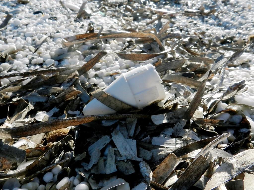 Plastik-Überbleibsel der Saison