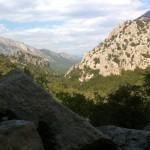 Blick vom Monte Tiscali in Richtung Valle Lanaitto
