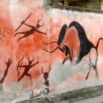 Höhlenmalerei auf offener Strasse