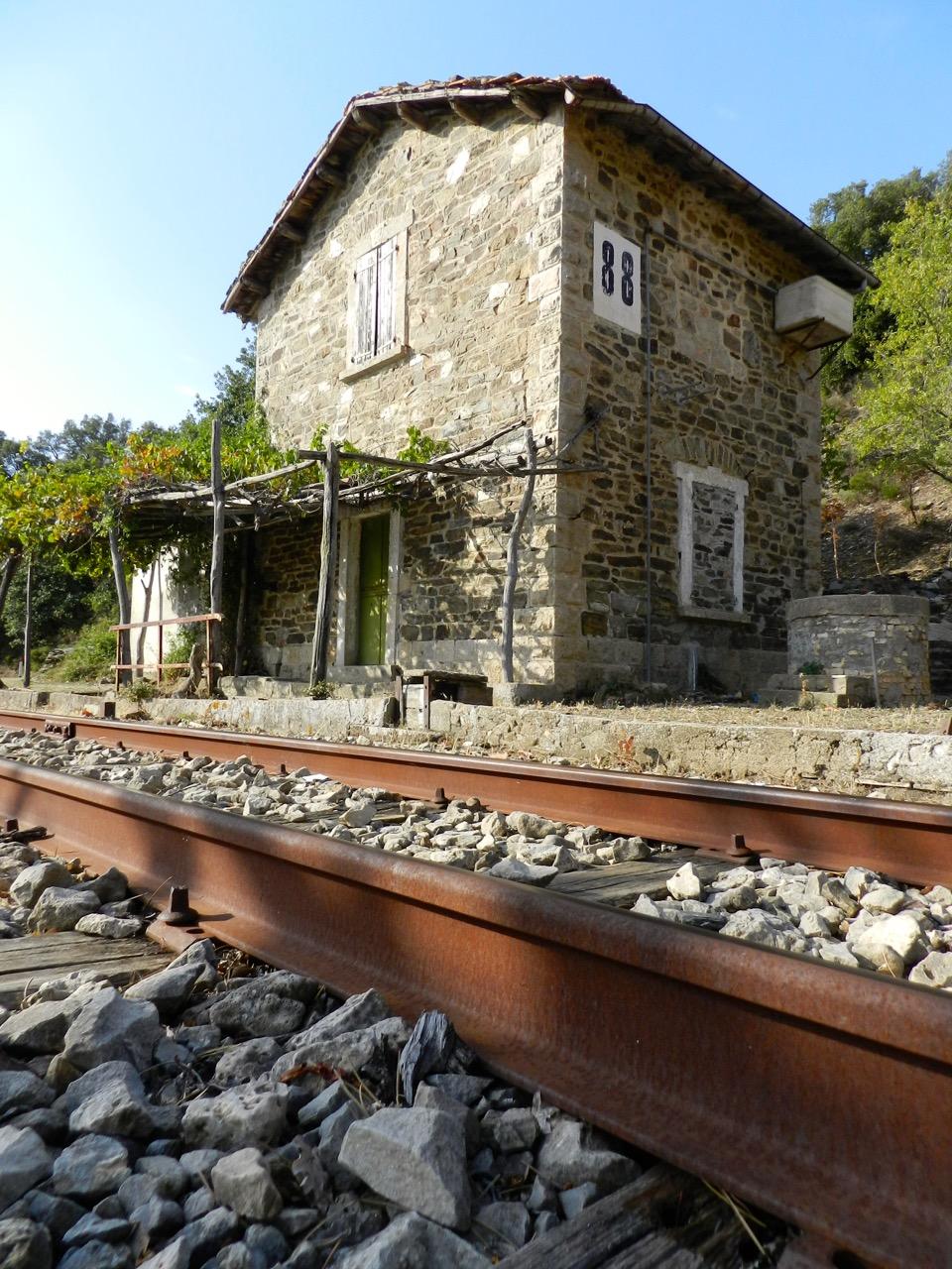 An der Strecke des Trenino Verde