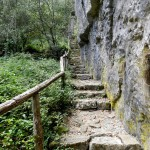 Aufstieg entlang der Felswand
