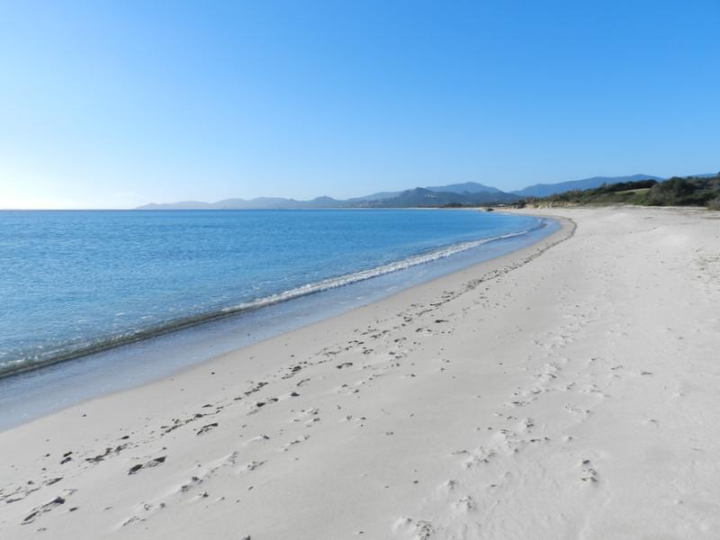 Laaaaanger Sandstrand der Costa Rei (hier im Winter)