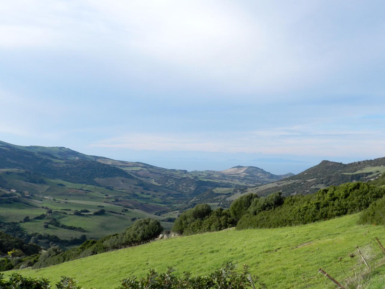 Die Anglona in der Nebensaison: üppige grüne Wiesen