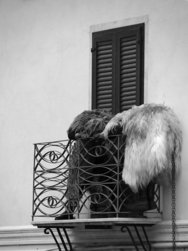 Zwei Urthos auf einem Balkon