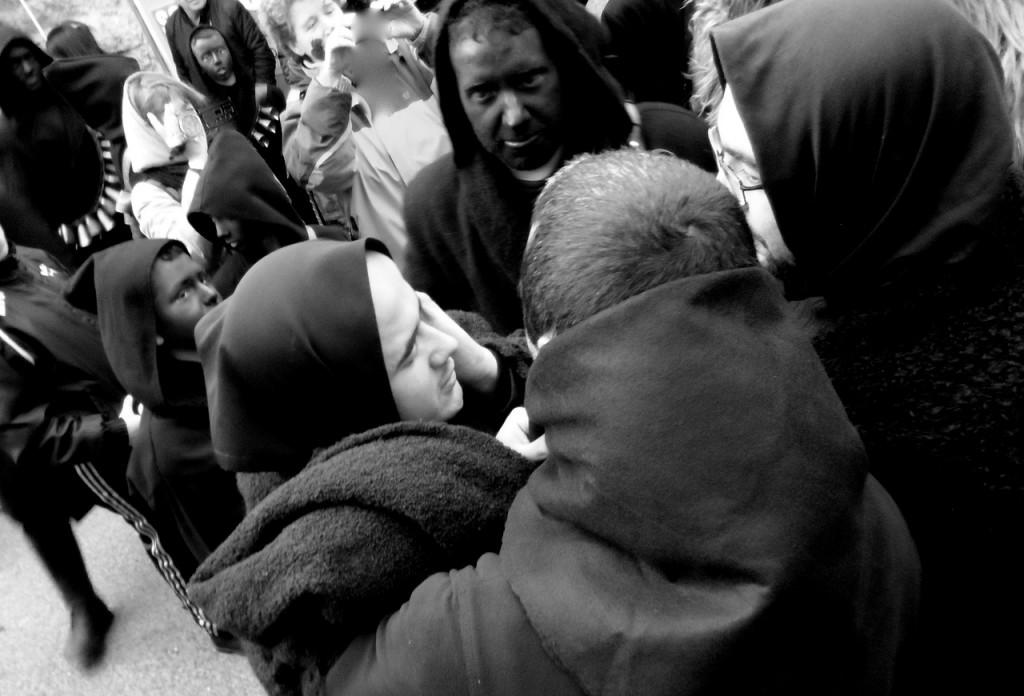 """Die Witwen beweinen das Ende des Karnevals mit dem """"lamento funebre"""""""