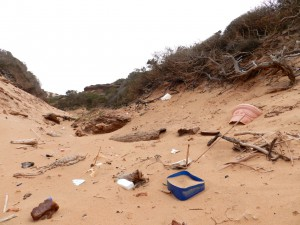 Müllproblem am Strand