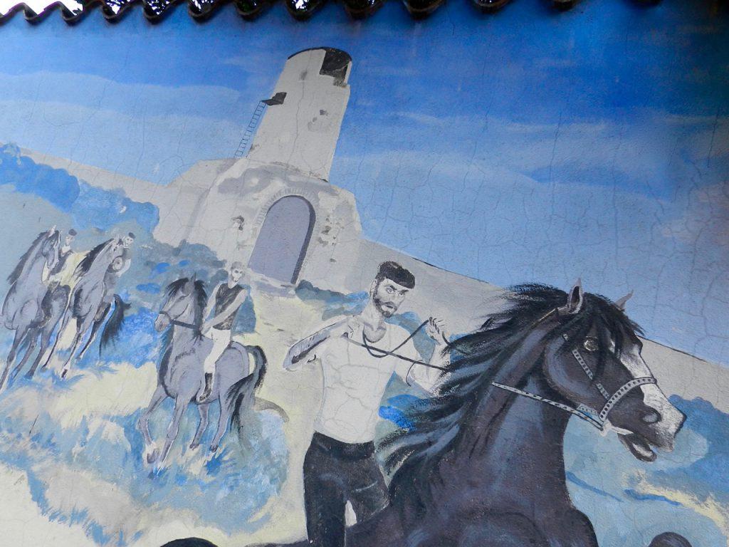 Torre dei dieci Cavalli, Murales in Muravera