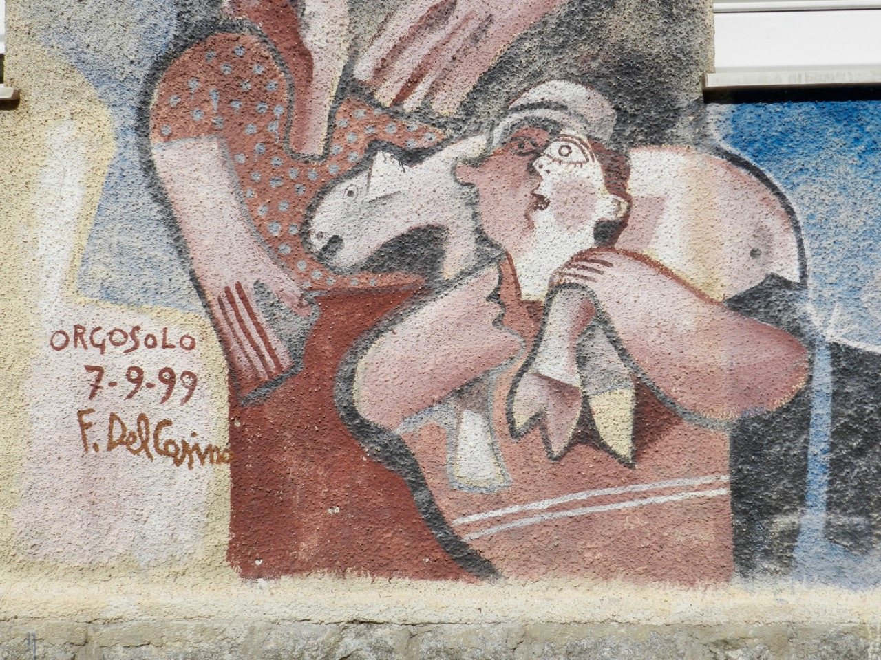 Murales mit Schaf - von Francesco Del Casino