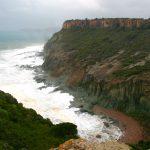 Cala 'e Moros bei Bosa im Sturm