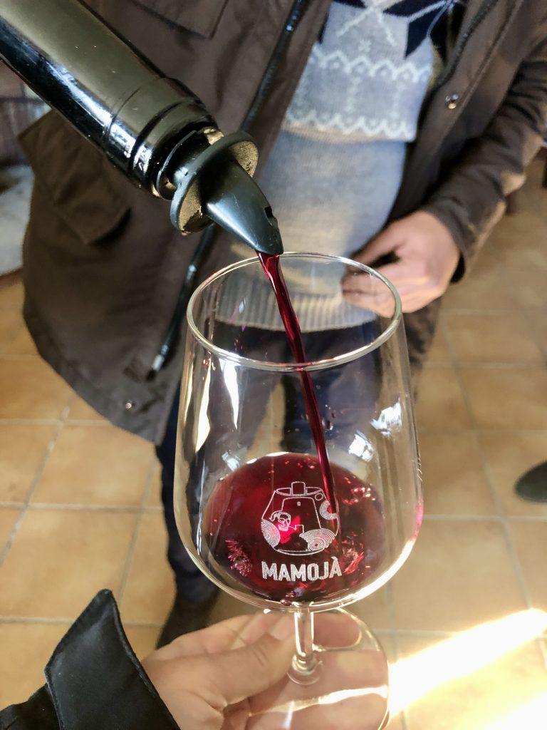 Verkostung des Cannonau in purezza BERTERU, in der Cantina Gungui