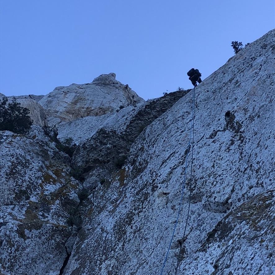 Sehr spaßig: die letzte Wand am Capo Figari