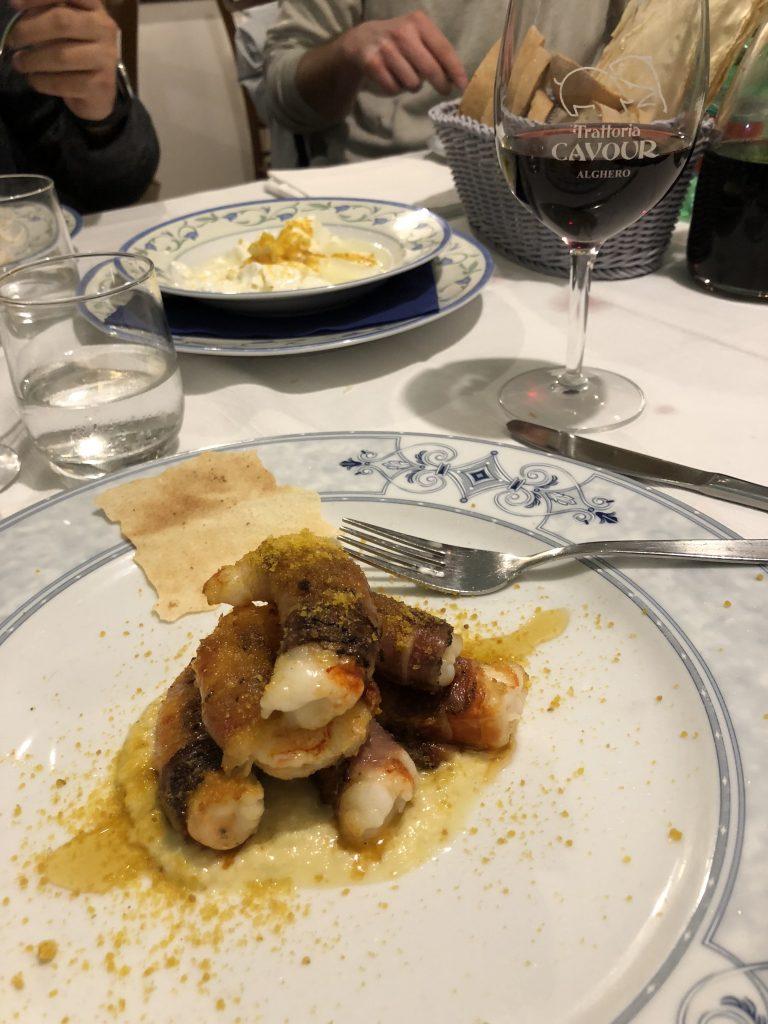Gut essen ist in Alghero kein Problem - hier in der Trattoria Cavour in der Altstadt