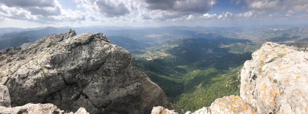 Gipfelpanorama Monte Corrasi