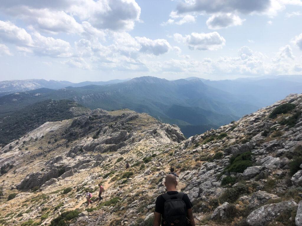 Der Gipfelgrat des Corrasi im Supramonte di Oliena