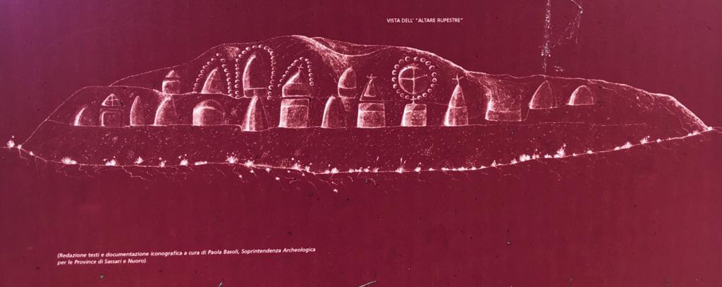 Zeichnung des Felsenaltars
