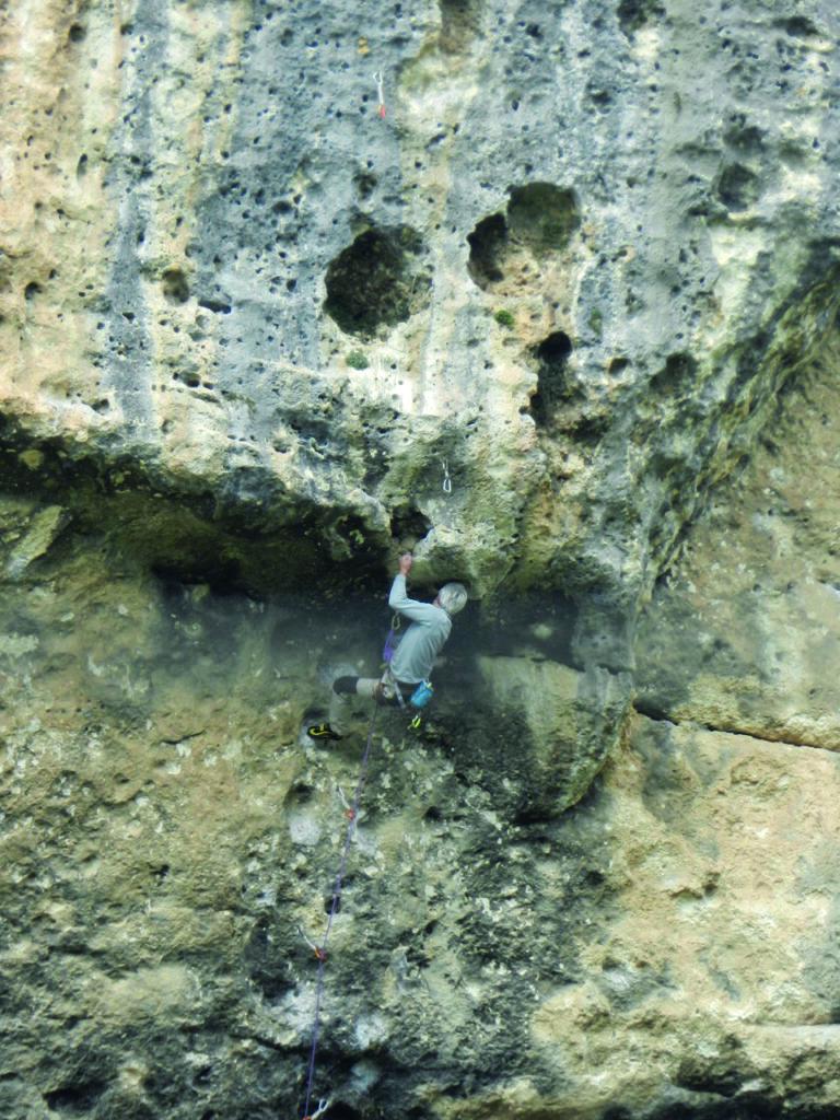 Kletterer an der Wand am Rio Corrigas, Isili