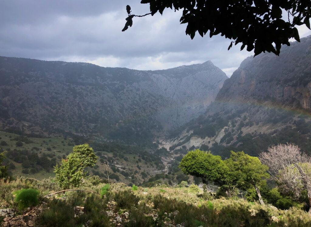 Spannende Landschaften, und ein Regenbogen über Sa Giuntura