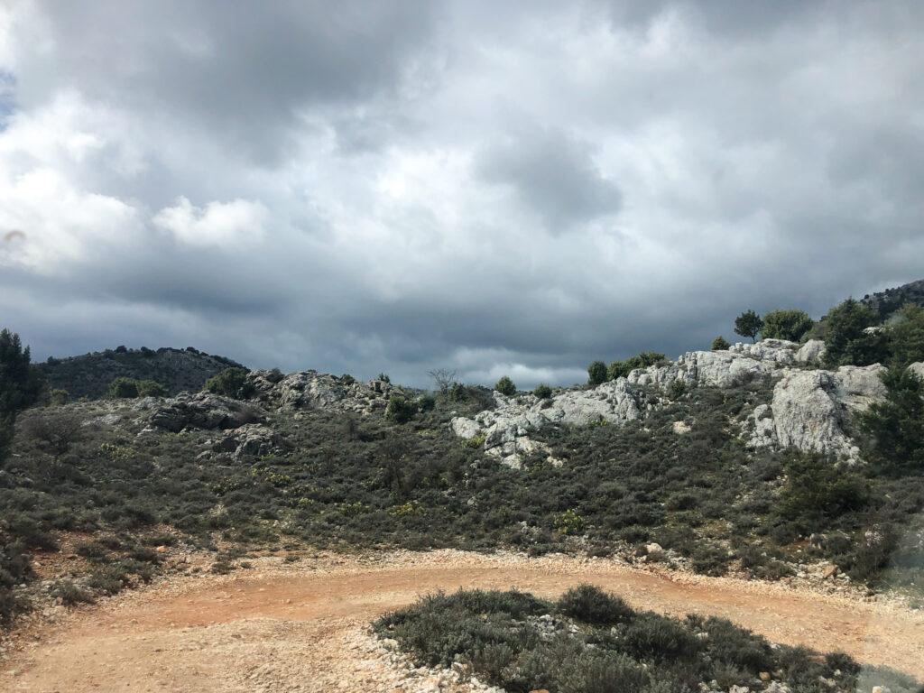 Schotterstrasse auf dem Campu Oddeu
