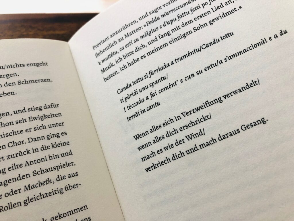 Sardische Poesie und eine schöne deutsche Übersetzung