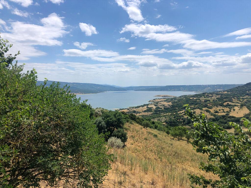 Sonniger Weitblick über den Stausee Lago Omodeo